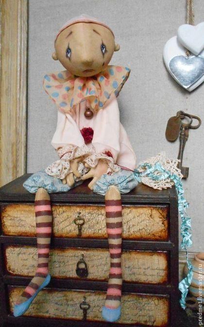 Коллекционные куклы ручной работы. Ярмарка Мастеров - ручная работа. Купить Pierrot. Handmade. Пьеро, печальная кукла