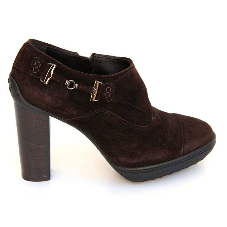 Brown 36.5 EUR - 6.5 US (244mm) Tods ladies ankle boot XXW0OJ0D290HR0S800