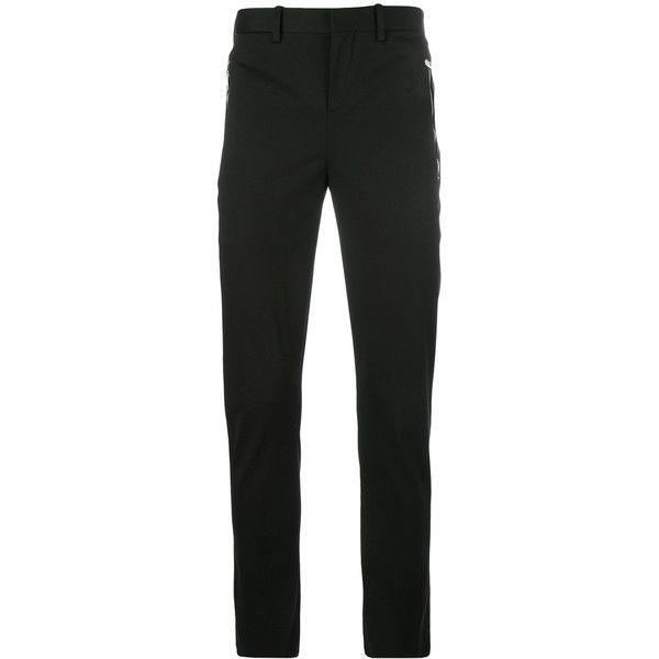 Neil Barrett skinny chino trousers ($575) ❤ liked on Polyvore featuring men's fashion, men's clothing, men's pants, men's casual pants, black, mens 5 pocket pants, mens skinny pants, mens skinny chino pants, mens slim fit pants and mens chinos pants