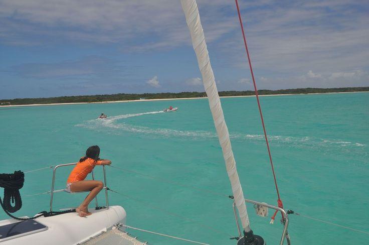 Bouée tractée à Barbuda pour la plus grande joie des enfants !