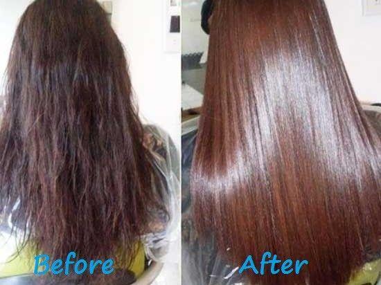Mélangez 1càs de vinaigre de cidre et 1càs de glycérine. ajouter 1oeuf battu. 2 càs d'huile de ricin. Mélanger .Appliquer sur toute la longueur des cheveux. Envelopper en plastique et avec une serviette. Laissez le masque sur vos cheveux pendant 2 heures. Après laver vos cheveux en utilisant un shampooing. Le masque doit être fait 2 fois par semaine. Faire ceci pendant 1 mois. Après un mois, vous pouvez faire des masques prévention - 1 fois en 2 semaines.