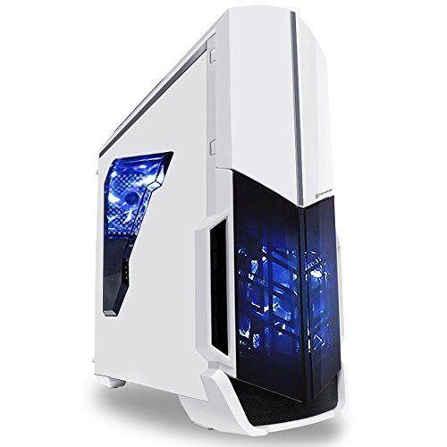 Gamers' Pick PC SkyTech Archangel Ultra Gamer Desktop with the mid range GTX 750TI graphics card appears to be a great entertainment PC that looks great in white, blue and black and modern unique design as part of the Archangel series and has a very so...