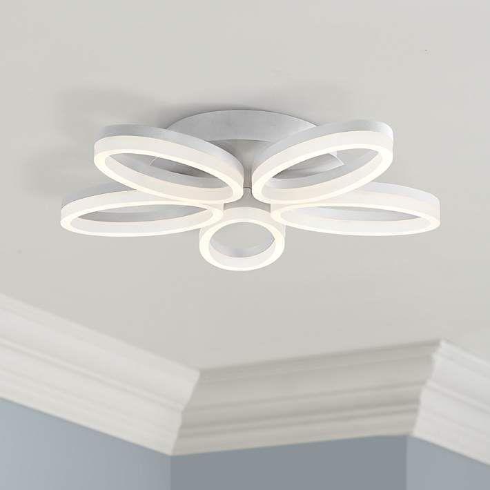 Possini Euro White Bloom 21 1 2 Wide Led Ceiling Light 7k591 Lamps Plus Ceiling Lights Led Ceiling Lights Led Ceiling