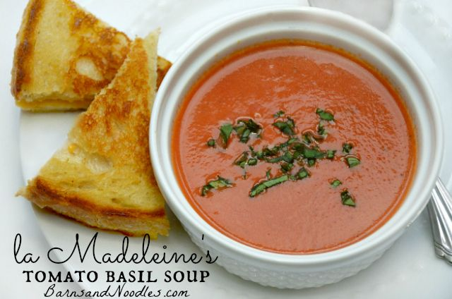 La Madeleine Tomato Basil Soup is the perfect comfort food, a tried and true recipe that my family loves!