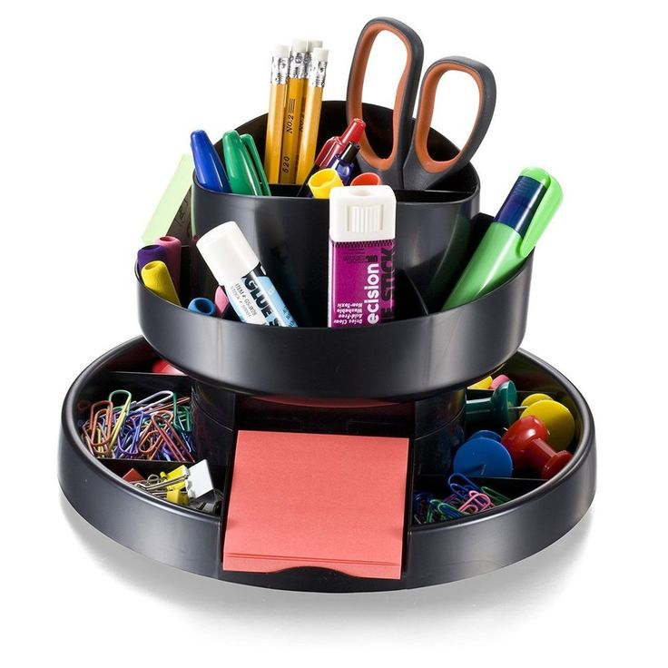 Desk Organizer Desktop Office Supplies Pen Pencil Accessories Storage Tray Black