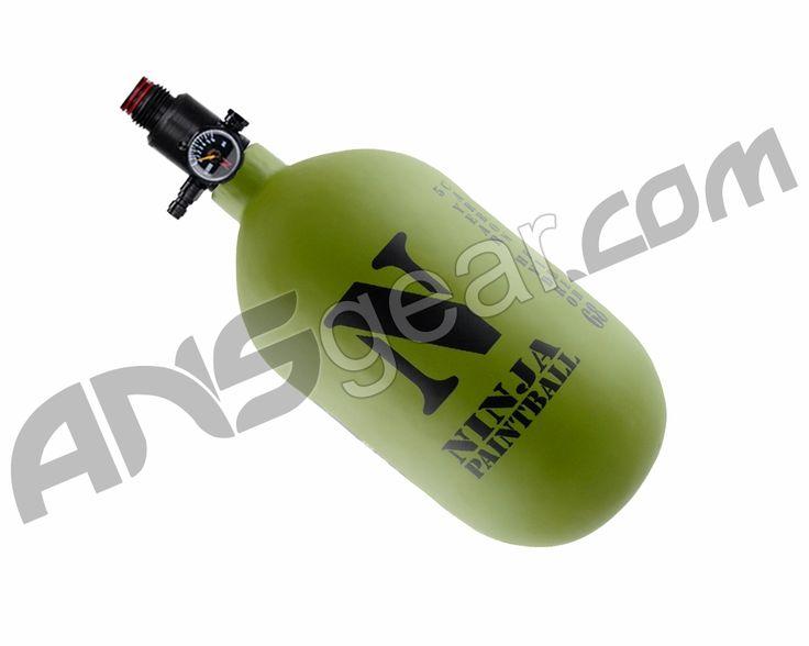 Ninja Dura Carbon Fiber Air Tank w/ Adjustable Regulator - 68/4500 - Olive Drab