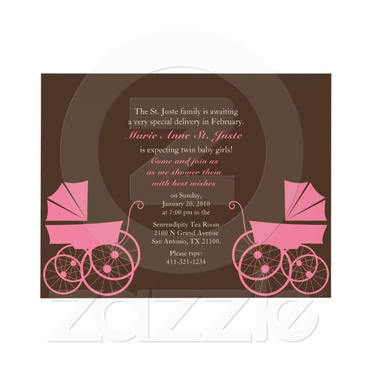 baby shower invitation for twins%0A shower