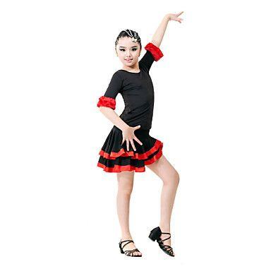 Tenue Viscose , Danse latine/Salle de bal/Spectacle/Entraînement ) Danse latine/Salle de bal/Spectacle/Entraînement - pour Enfant – EUR € 21.15