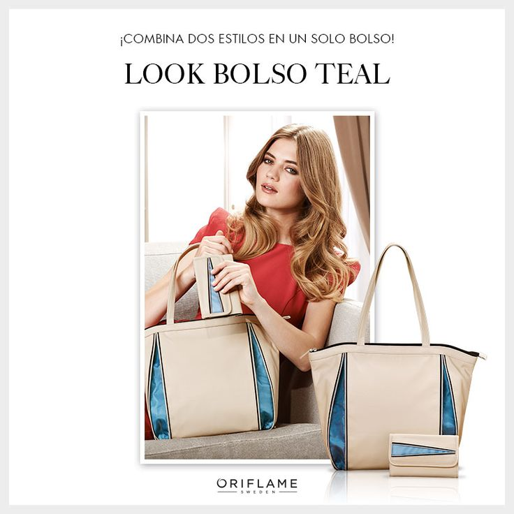 El tono #nude se luce más cuando es potenciado por colores vivos. ¡Prueba este sofisticado look con tu #bolsa Teal #OriflameMX!