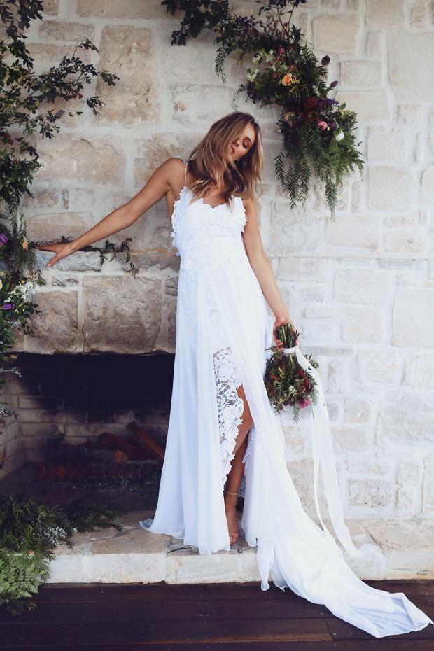 Described as a u0027boho beach wedding dressu0027