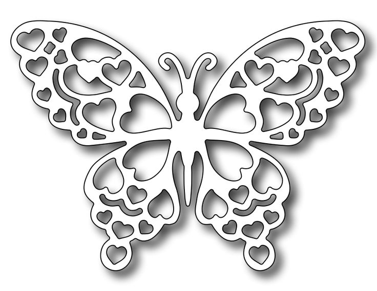 Frantic Stamper - Precision Dies - Romance Butterfly