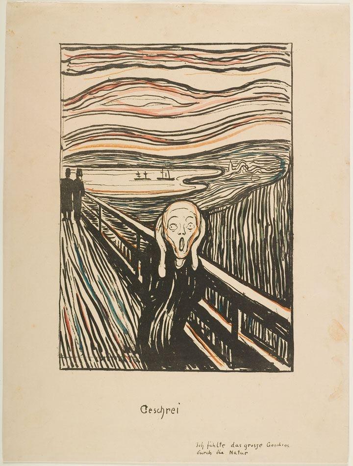 """E. Munchs """"Skriget"""".   Set på Aros februar 2013"""