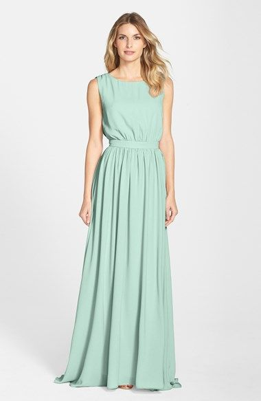 Pretty mint bridesmaid dress Lauren Conrad 'Tori' Crepe ...