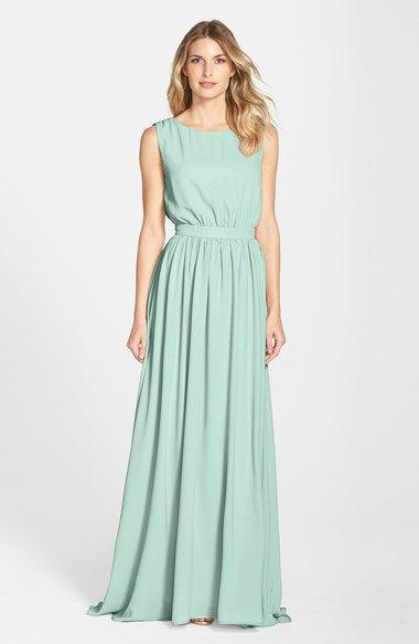 Pretty mint bridesmaid dress Lauren Conrad 'Tori' Crepe ...