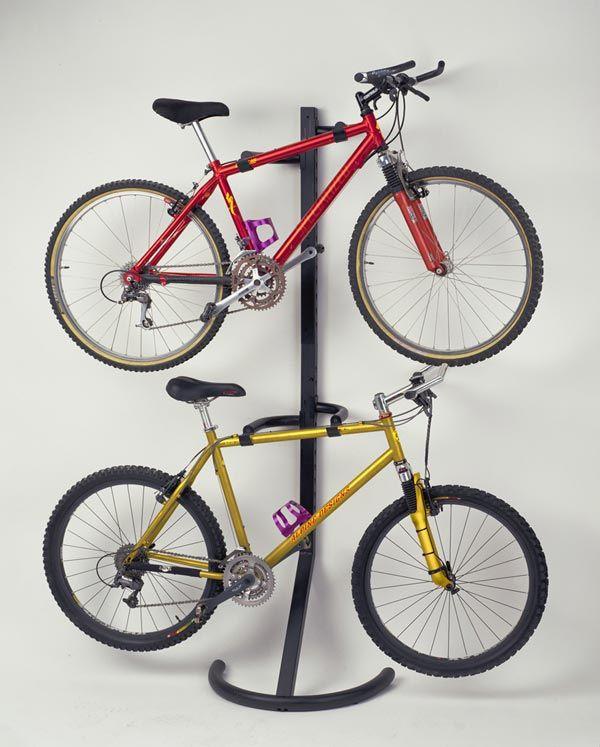 Racor Two Bike Gravity Freestanding Bike Stand Rack Storage Adjustable  Garage