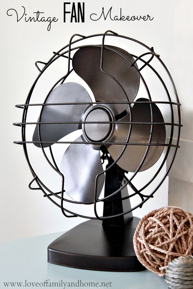 Love of Family & Home: Vintage Fan Makeover with Spray Paint