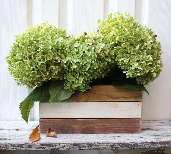 Rustic Wooden Box - Four Tone - Centerpiece - Planter - Silverware holder - Herb Garden - Organization
