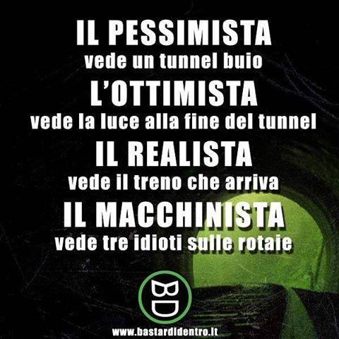 Tre punti di vista più uno! #bastardidentro #ottimista #treno #ipnoticamentebastardidentro Condividete il… www.bastardidentro.it
