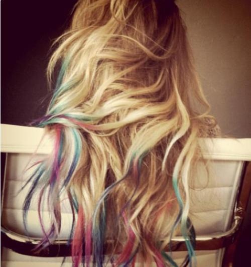 tried it. loved it.Rainbows Hair, Colored Tips, Dye Hair, Dips Dyed, Dips Dyes, Hairchalk, Dyes Hair, Hair Chalk, Lauren Conrad