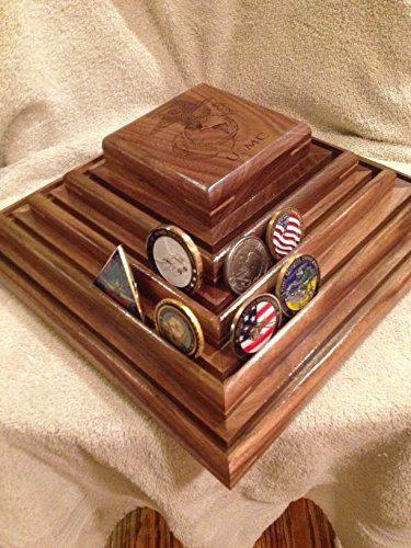 US Marine Corps Challenge Coin Display Rack Holder Stand w/Lazy Susan *** More info could be found at the image url. (Amazon affiliate link)