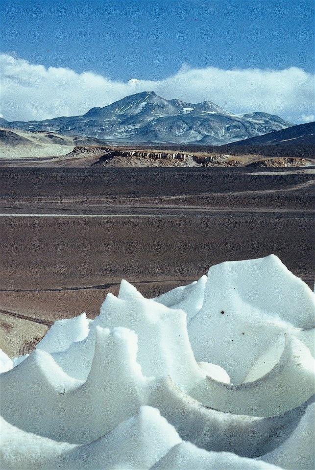 Ojos de Salado el Volcan mas alto del mundo en la frontera de Chile y Argentina a 6.962 metros de Altura