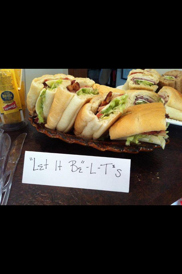 """Beatles theme party food ideas """"let it be"""" LT bites"""