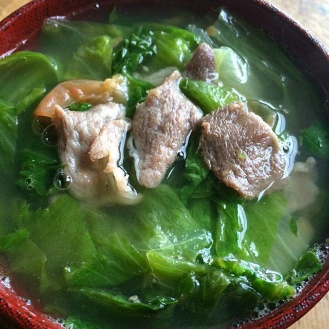 夕べ、飲み過ぎたのでレタスいっぱい入れた梅干効かせたスープです‼︎ - 63件のもぐもぐ - 糖質制限ダイエットな朝ごはん‼︎ by giacometti1901