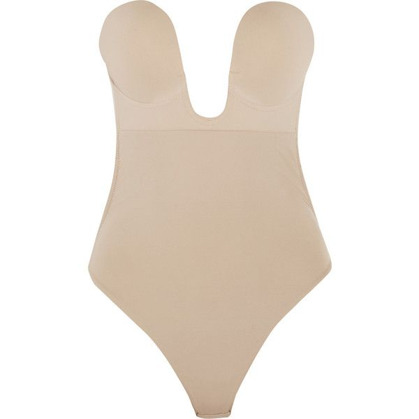 Fashion Forms U-Plunge self-adhesive bodysuit ($30) ❤ liked on Polyvore featuring intimates, shapewear, tops, bodysuit, lingerie, nude and neutral