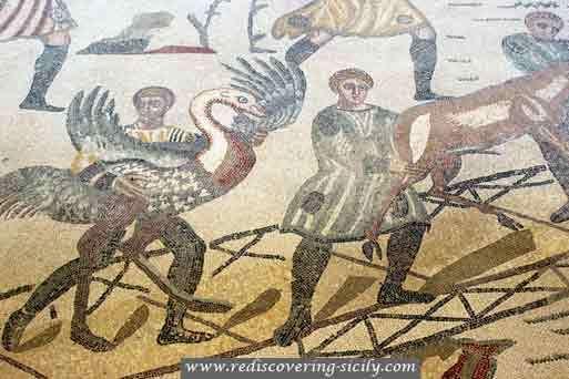 Villa Romana del Casale - Sicily: Hunting scene