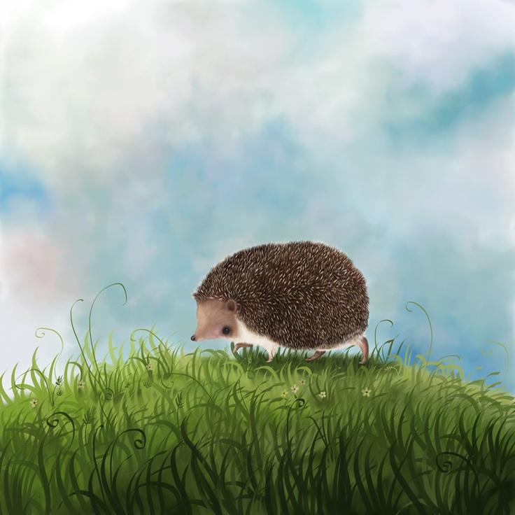 Сообщество иллюстраторов / Иллюстрации / Paskamarja (Варя Колесникова) / Ежик