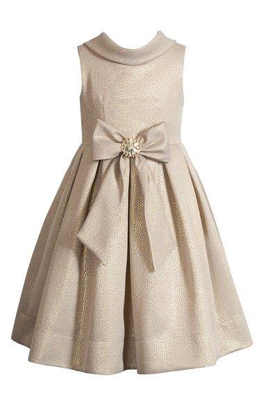 Gold dress for flower girls
