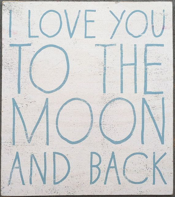 This shop has the cutest frames and plaques!!!  I love you to the moon and back handwritten by GoJumpInTheLake, $40.00