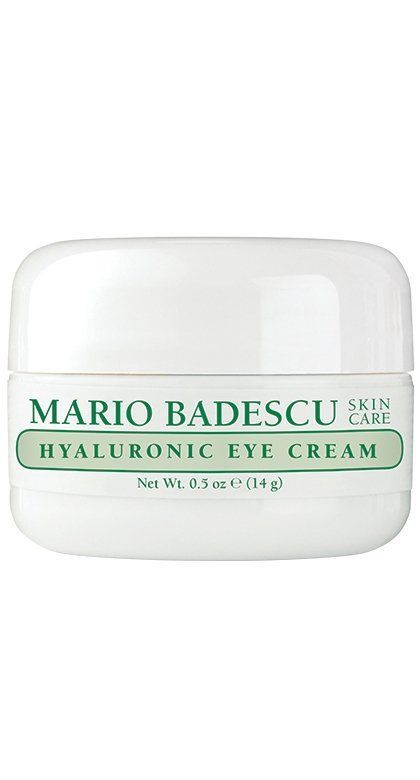 Mario Badescu Hyaluronic Eye Cream-Effectively hydrate and smooth under-eyes with our best-selling eye cream. Formulated to help lock in moisture without feeling greasy or heavy, the Hyaluronic Eye Cream boasts a lightweight, whipped consistency that makes it a favorite for all skin types. Hyaluronic Acid (a powerful humectant known for its ability to retain natural moisture levels) and Safflower Seed Oil (high in essential fatty acids) combine in an easily-absorbed formula that helps smooth…
