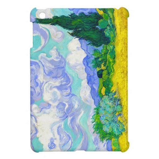 SOLD! - Wheat Field with Cypresses by Vincent Van Gogh Cover For The iPad Mini