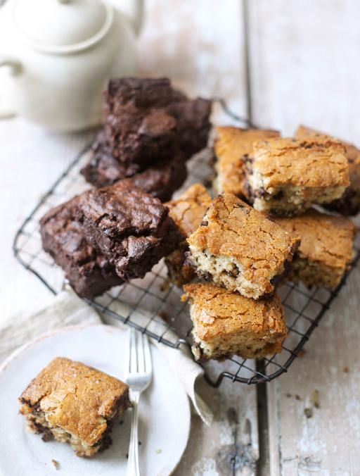 Gluten-free blondies Gooey, delicious & dairy-free too! Using honey and soya yoghurt makes these blondies super sticky in the centre. Make them vegan by changing the honey to maple syrup