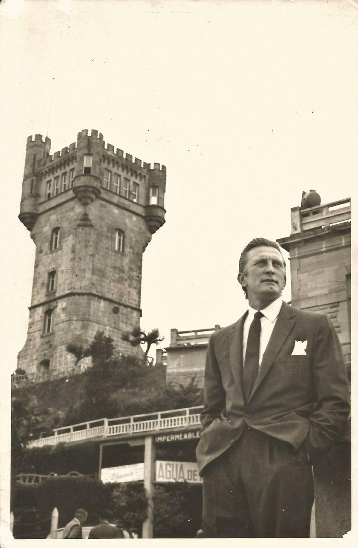 Kirk Douglas. Monte Igueldo, Festival Internacional de Cine de San Sebastián, 1958