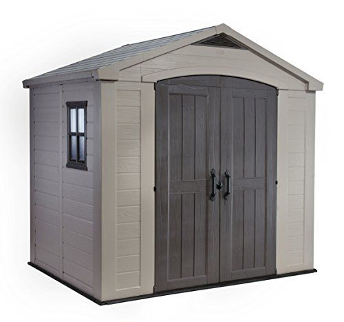 Was £599.00 > Now £499.99.  Save 17% off Keter 8 x 6 Factor Shed #2StarDeal, #GardenOutdoors, #GardenStorageHousing, #LawnPatio, #Under500