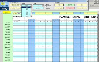 modele planning excel gratuit | Planning excel, Planning de travail, Planning chantier