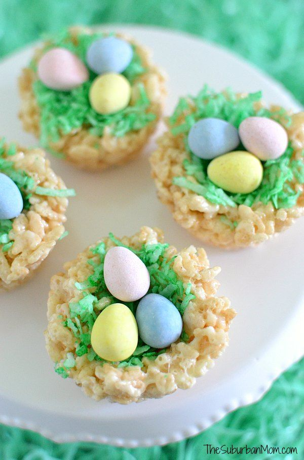 Easter Rice Krispies Treats Nests