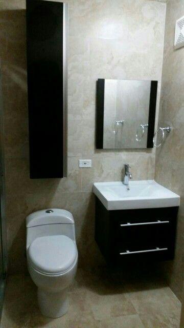 Instalacion de inodoro, vanity y side cabinet