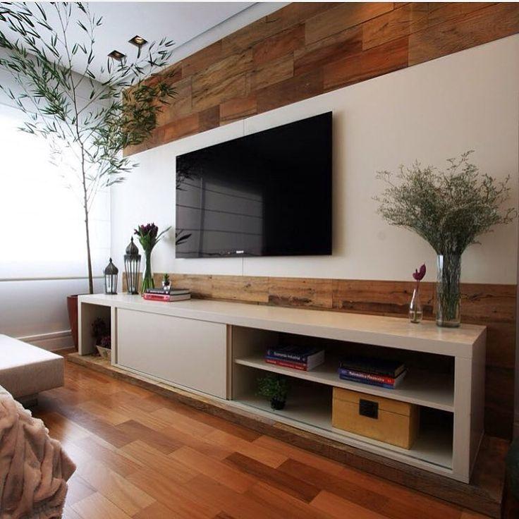 Painel De TV Por Oficina 44 #living #saladeestar #tvlounge #homedecor Part 70