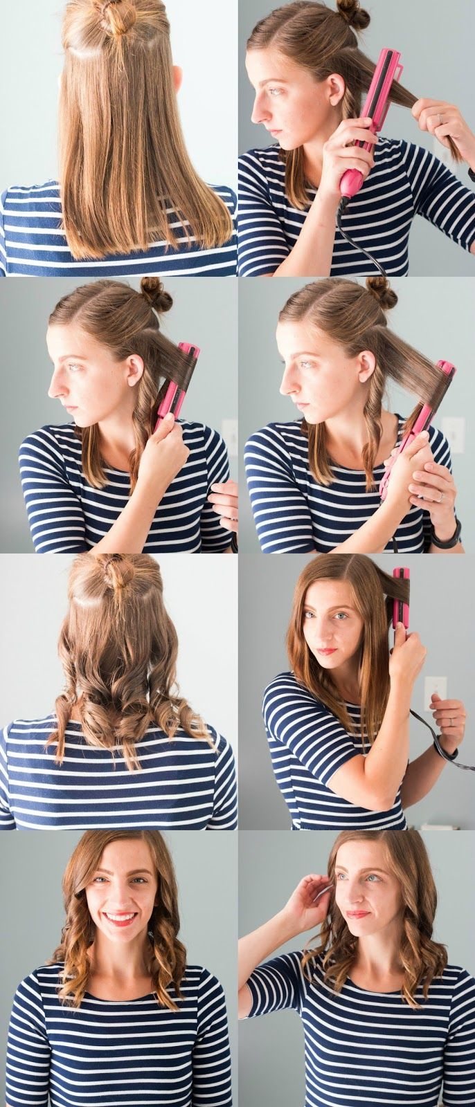 How I Keep My Hair Healthy How To Get Perfect And Easy Flat Iron Curls With W Curl Hair With Straightener Curling Hair With Flat Iron Curls With Straightener