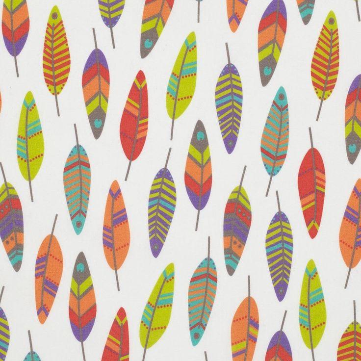 Tissu coton Plumes - Tissus - MAISON Mondial Tissus