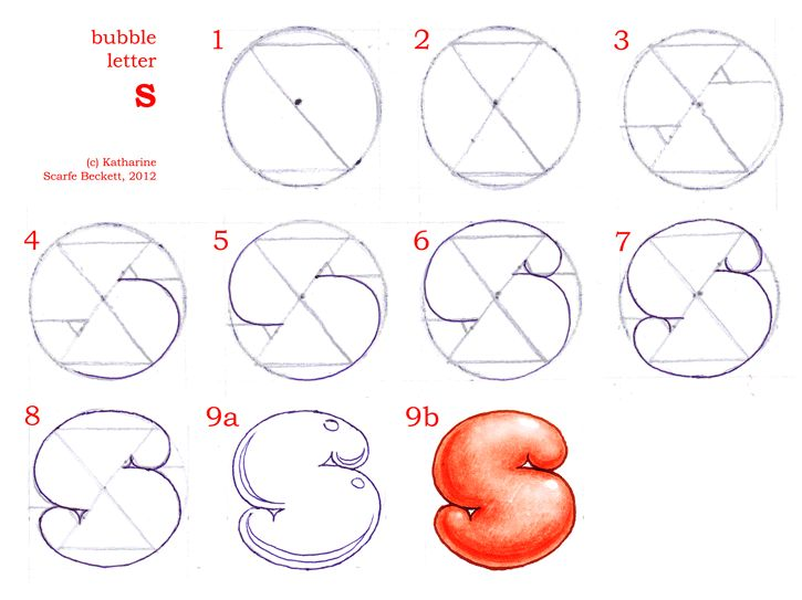 Second Page On How To Draw Bubble Letters Including S Z N E M W And P R F