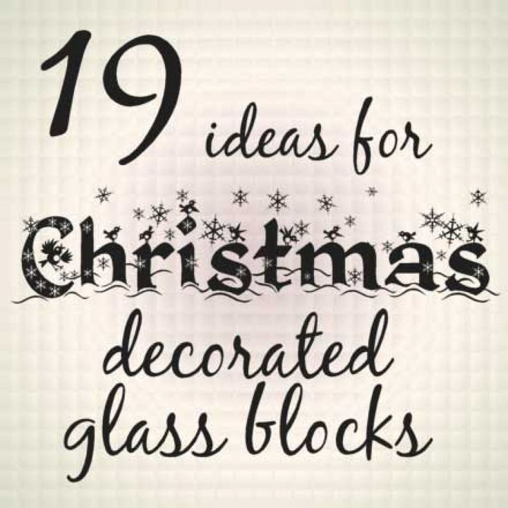 19 Ideas for Christmas Decorated Glass Blocks - and where to buy glass blocks