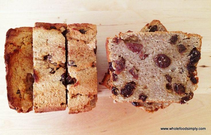 Wholefood Simply Grain Free Raisin Bread - Paleo, sugar and sweetener free, nut free