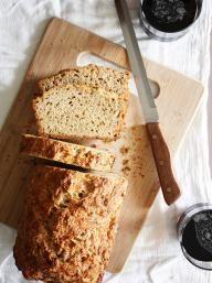 Gruyere-Rosemary Beer Bread | KitchenDaily.com