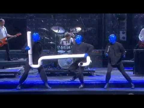 Blue man group light dress