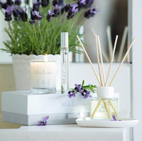 White lavender candles & diffuser by the white company