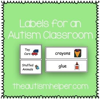 Labels for an Autism Classroom by theautismhelper.com